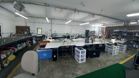 Industrial sewing space