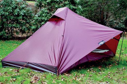 Seams on tents are sealed with silicone mixture